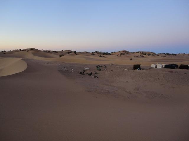Vista parcial do acampamento.