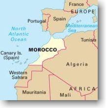 Mapa do Marrocos.